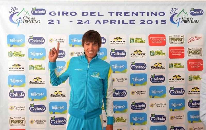 39° GIRO DEL TRENTINO MELINDA CONFERENZA STAMPA DIEGO ROSA 20-04-2015 © foto Daniele Mosna