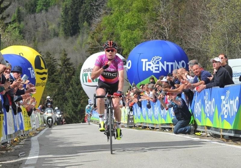 38° GIRO DEL TRENTINO 3 TAPPA MORI RONCONE VINCE CADEL EVANS 23-04-2014 © foto REMO Mosna