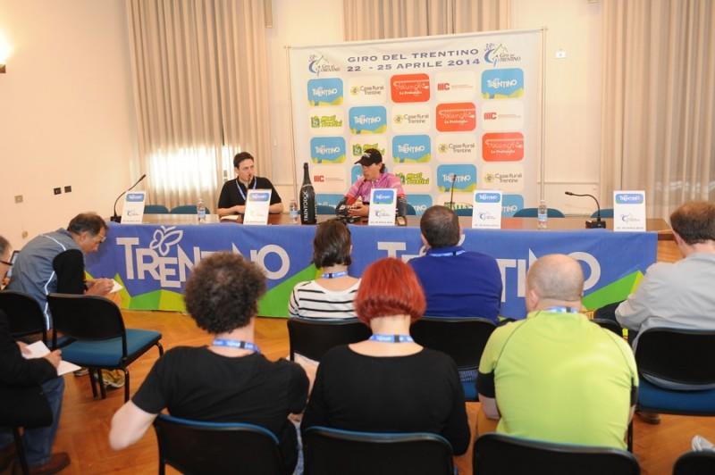 conferenza stampa Daniel Oss BMC RACING TEAM 1°tappa Crono squadre Riva del Garda-Arco