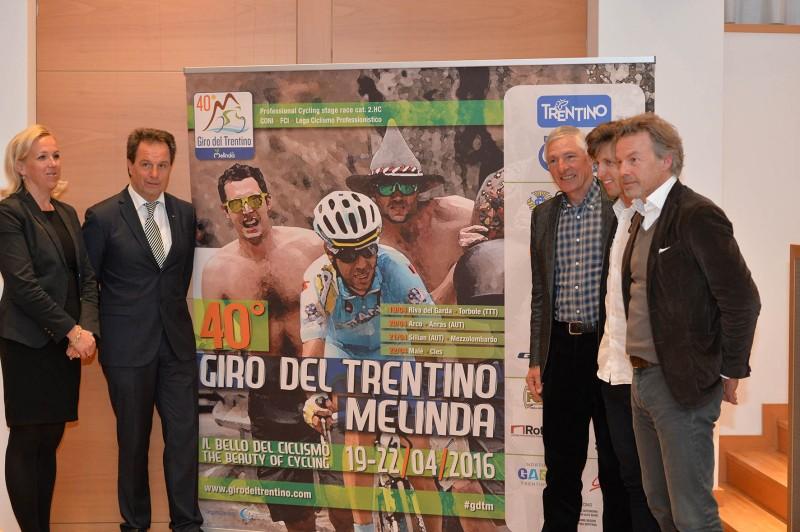 Presentazione del 40° Giro del Trentino Melinda, 29 marzo 2016 © foto Daniele Mosna