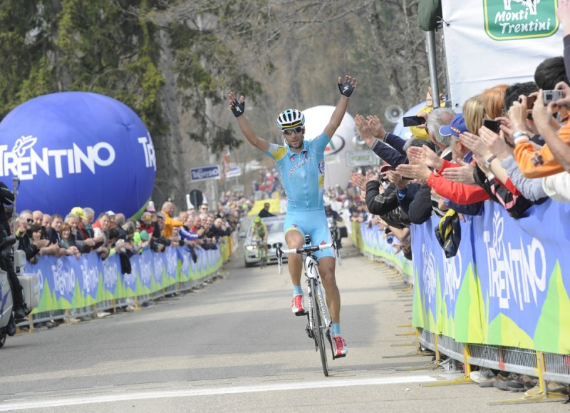 Giro dress rehersal for Nibali and Astana in Trentino