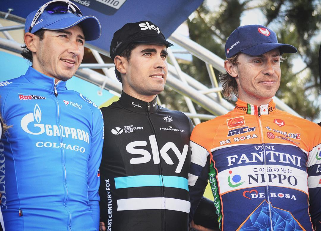 @TeamSky's Mikel Landa wins stage 2 and is new leader!