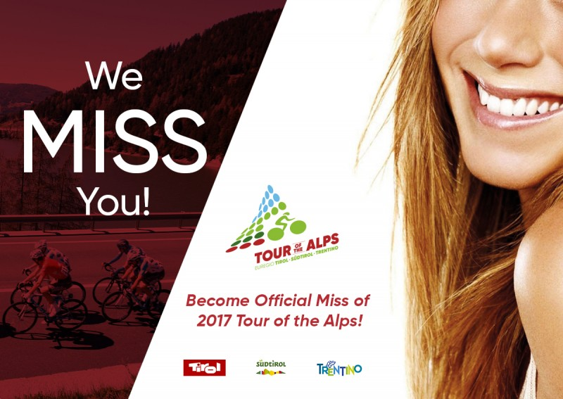 We MISS you: Tour of the Alps sucht das neue Lächeln!