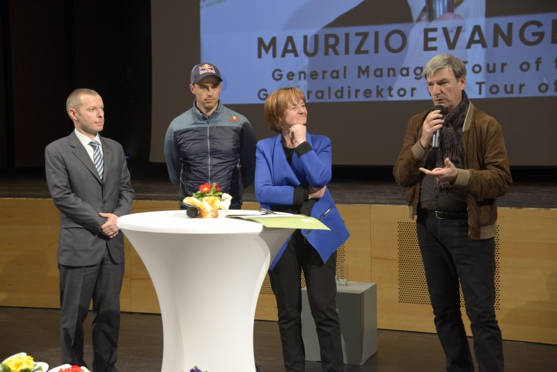 A prestigious preview of the 2018 Tour of the Alps took place in Auer