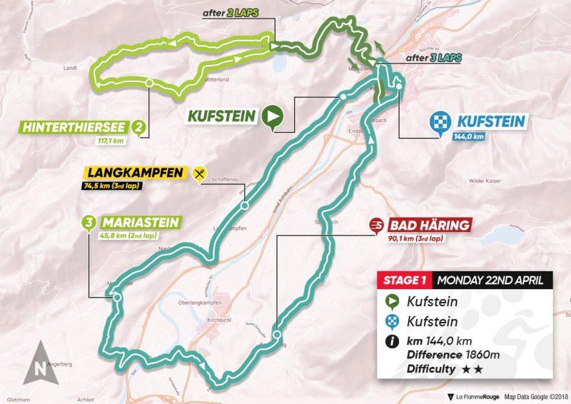 1ª tappa: Kufstein - Kufstein
