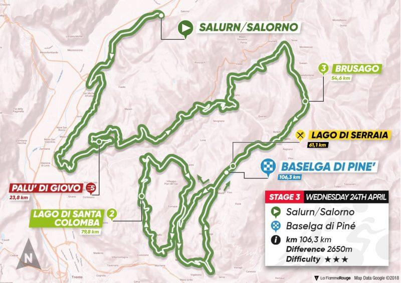3ª tappa: Salorno - Baselga di Pinè