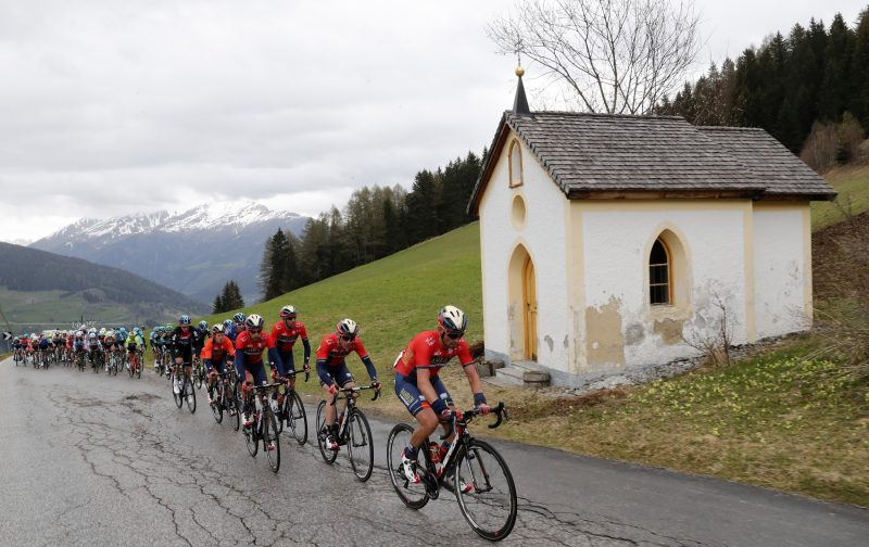 Tour of the Alpes 2019— 2 tappa Reith im Alpbachtal-Scena, 178,7 Km, il gruppo. Scena, Italia, 23/04/2019.  photo:Pentaphoto.