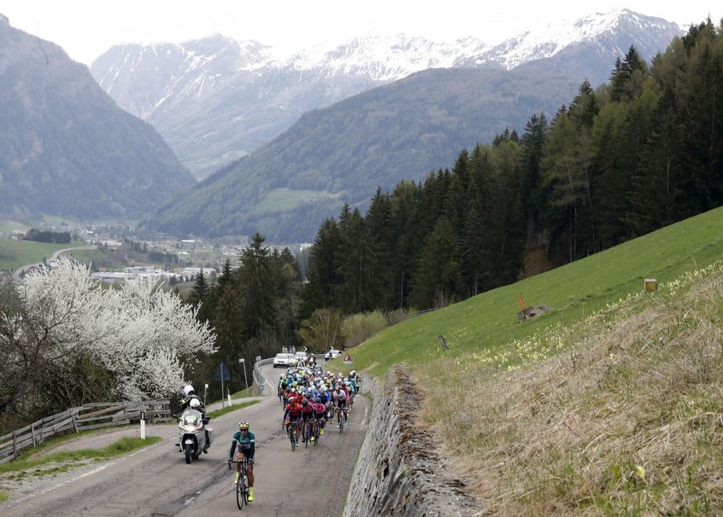 Tour of the Alpes 2019— 2 tappa Reith im Alpbachtal-Scena, 178,7 Km,il gruppo. Scena, Italia, 23/04/2019.  photo:Pentaphoto.