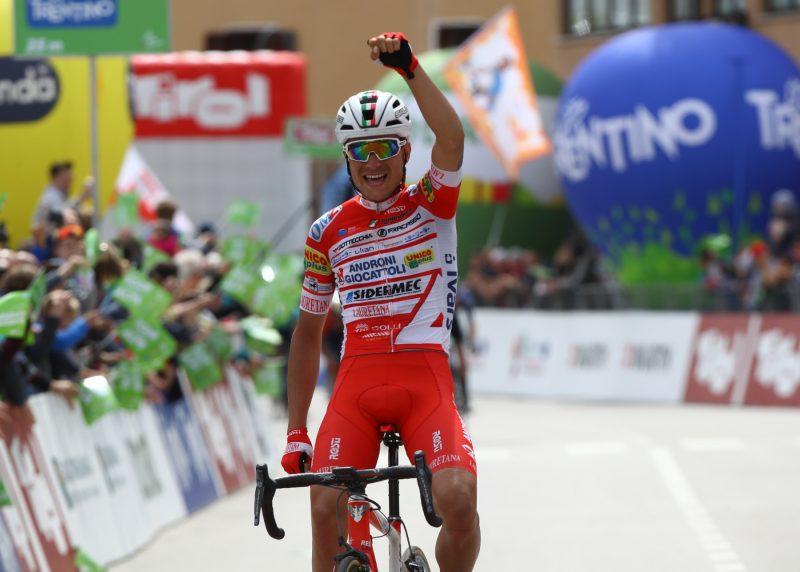 Tour of the Alps 2019— 3 tappa Salorno-Baselga di Pinè km 106,3, il vincitore Fausto Masnada (Ita)  Baselga di Pinè, Italia, 24/04/2019.  photo:Pentaphoto.