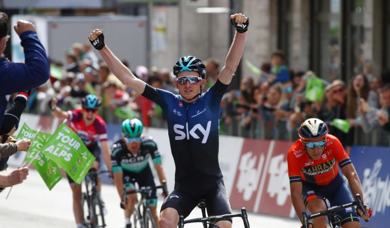 Nibali attacks, Geoghegan Hart wins: another Sky sweep in Cles