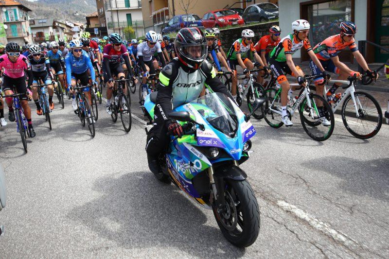 Tour of the Alpes 2019— 4 tappa Baselga di Pinè - Cles  km 133, Mote elettrica Cles, Italia, 25/04/2019.  photo:Pentaphoto.
