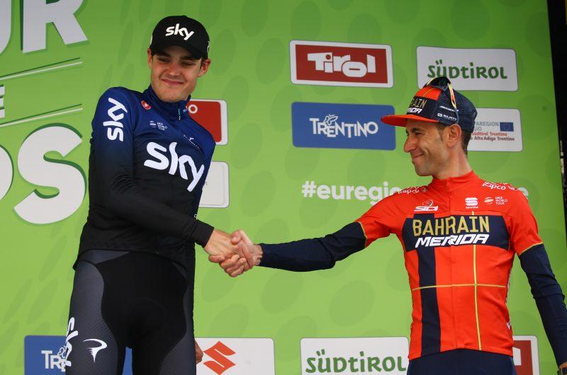 Tour of the Alps 2019— 5°tappa Caldaro-Bolzano km 147,8  Hart Pavel Sivakov Vinvcenzo Nibali  Bolzano, Italia, 26/04/2019.  photo:Pentaphoto/Alessandro Trovati.