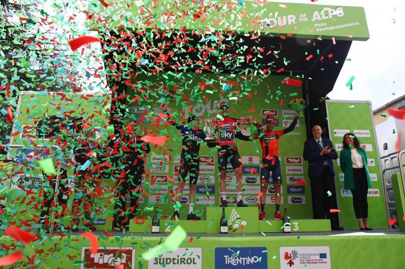 Tour of the Alps 2019— 5 tappa Caldaro Bolzano 147,8Km.  Tao Geoghegan Hart Pavel Sivakov Vincenzo Nibali   Bolzano, Italia, 26/04/2019.  photo:Pentaphoto/Alessndro Trovati.