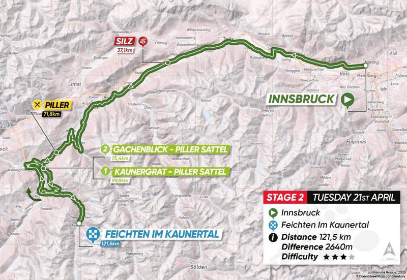 2ª tappa: Innsbruck – Feichten im Kaunertal