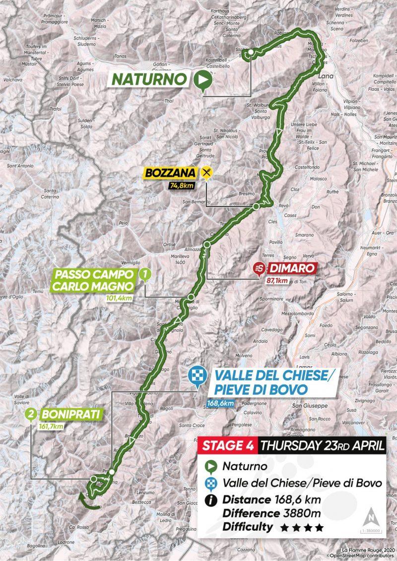 4ª tappa: Naturno – Valle del Chiese/Pieve di Bono