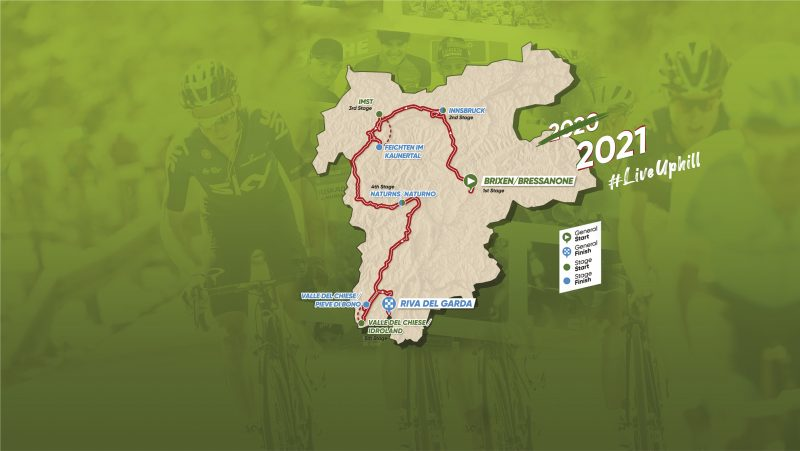[:it] Il Tour of the Alps riparte di slancio: percorso confermato nel 2021 [:en] Tour of the Alps confirms course for 2021 edition [:de] Unveränderter Streckenverlauf: Die Tour of the Alps bleibt sich selbst treu